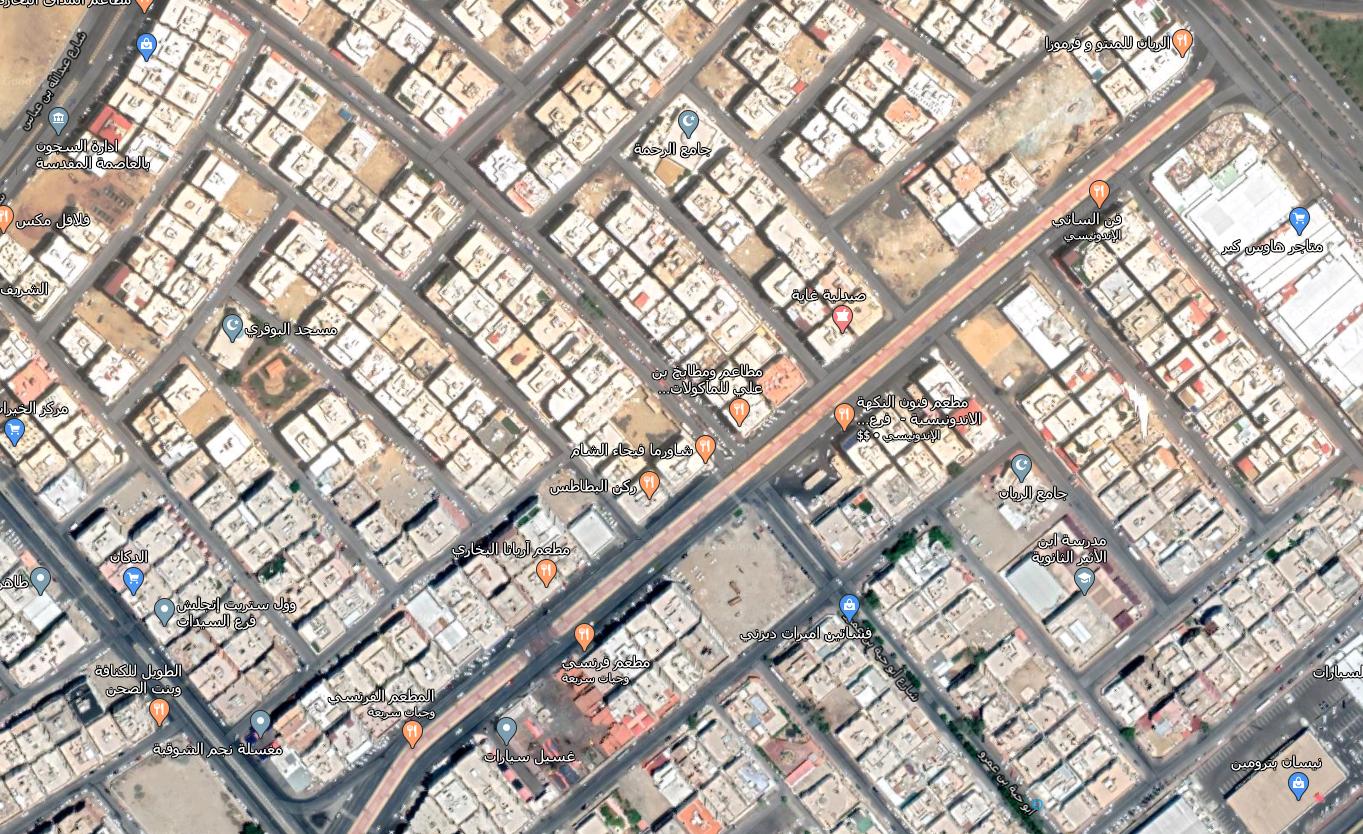 للإيجار شقة في حي الشوقية على شارع الممشى